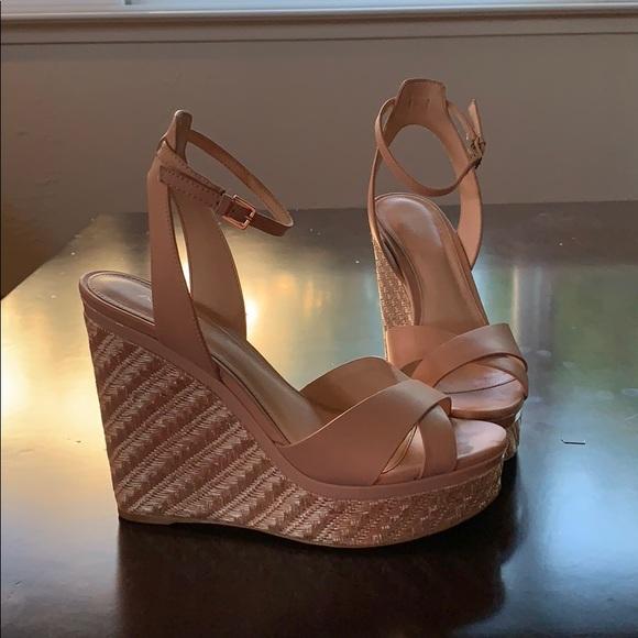 Aldo Shoes | Blush Aldo Wedges | Poshmark